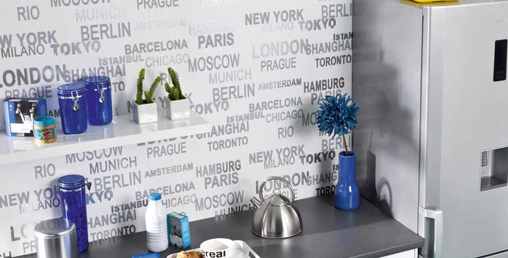 Papel decorativo materiales mob 3 des infograf as y - Papel cocina pared ...