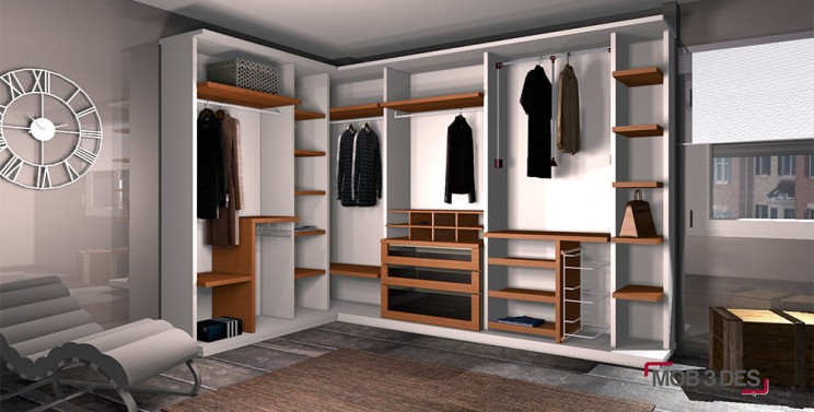 Vestidor armarios dise os mob 3 des infograf as y for Diseno de interiores 3d data becker